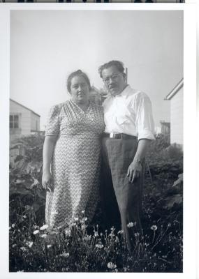 Bernardo Vega and Teresa Vega at their home