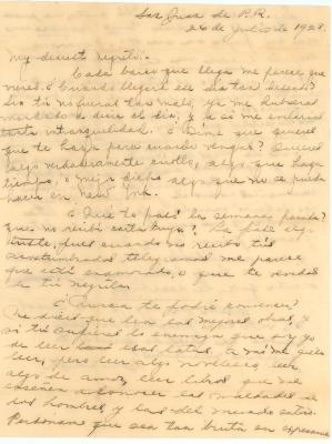 Correspondence to Jesús Colón from Concha