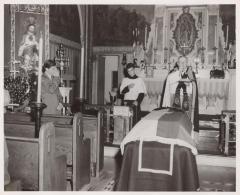 A funeral mass