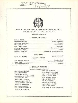 Puerto Rican Merchants Association, Inc. members list