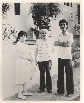 Amanda and Clemente Soto Velez with Ramon Aboy