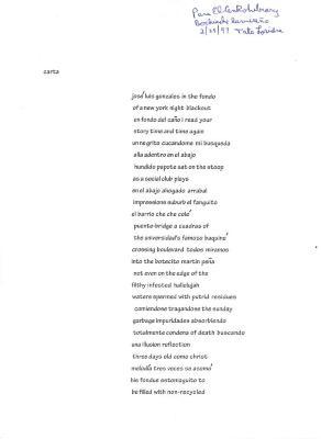 Carta (unpublished poem)