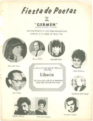 Fiesta de Poetas de la Revista Germen