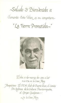 Saludo y Bienvenida a Clemente Soto Velez y su compañera - La Tierra Prometida