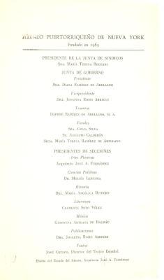Ateneo Puertorriqueño de Nueva York members list