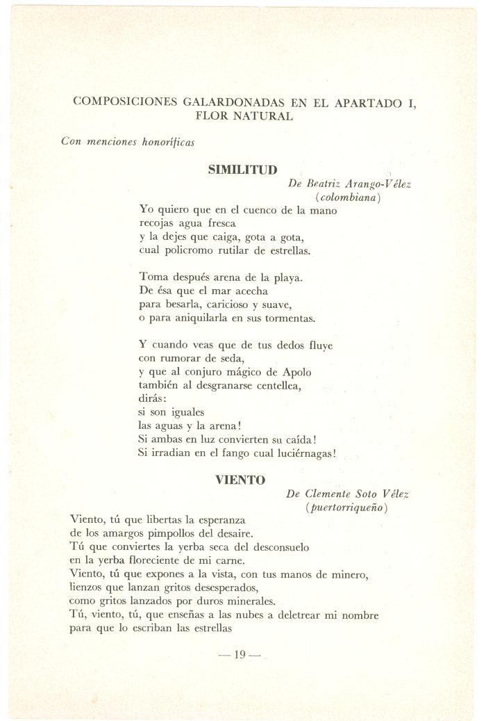 Composiciones Galardonadas En El Apartado I, Flor Natural  / Winning Compositions In Section I, Natural Flower