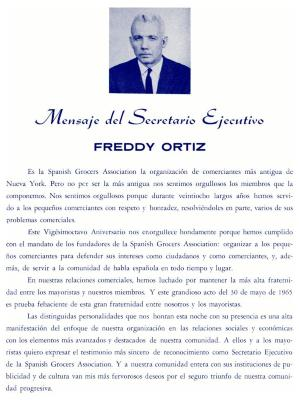 Mensaje del Secretario Ejecutivo - Freddy Ortiz / Message from the Executive Secretary - Freddy Ortiz