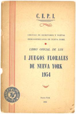 Portada Libro Oficial Juegos Florales de NY / Official Book of Floral Games of NY