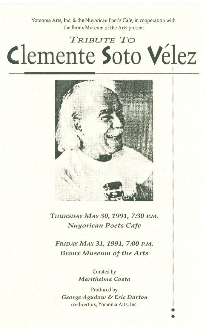 Tribute to Clemente Soto Velez