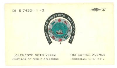 ID Card - Puerto Rican Merchants Association