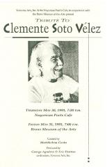 Tribute to Clemente Soto Velez