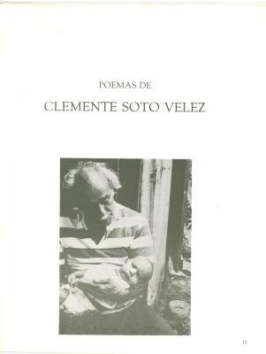 Poemas de Clemente Soto Velez / Poems of Clemente Soto Velez