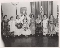 Females wearing different Mexican regions clothing