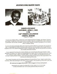 Justice For Manny Mayi 1