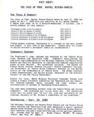 Fact Sheet - The Case of Prof. Rafael Rivera-Garcia