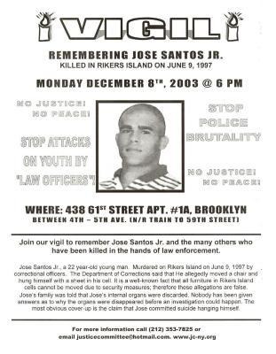 Vigil for Jose Santos, Jr.