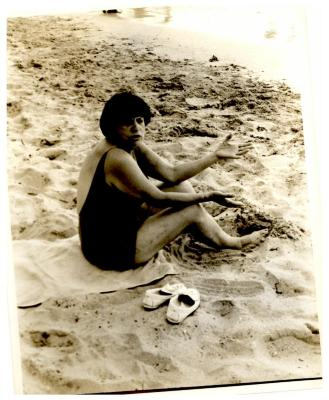 Amanda Soto Velez on the beach