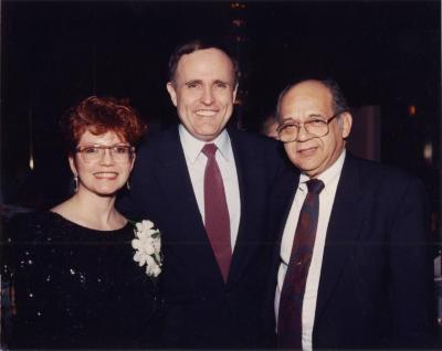 Judge Frank Torres, Rudolph Giuliani and a woman