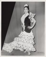 The Spaniard singer, dancer and actress, Lola Flores