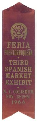Feria Puertorriqueña Third Spanish Market Exhibit Ribbon