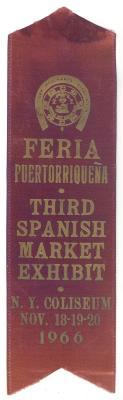 Feria Puertorriqueña Third Spanish Market Exhibit Ribbon