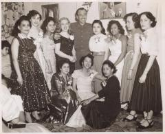 The Mexican Actor and Singer Pedro Infante with a group of women