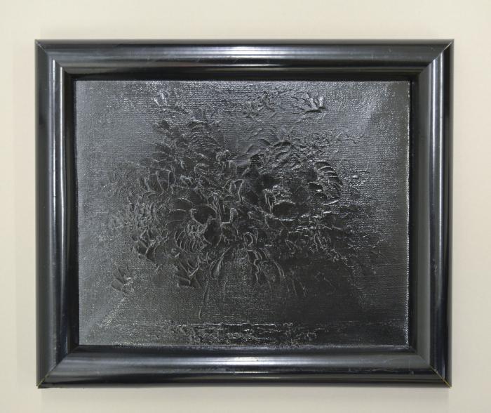 Bouquet (black paint on canvas)