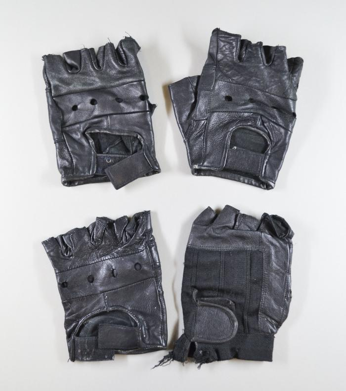 Black Leather Gloves [3 pairs]