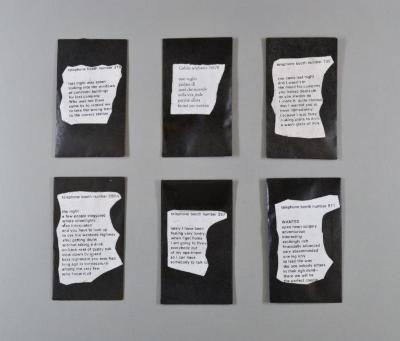 Black Evelopes with Poems and Condoms