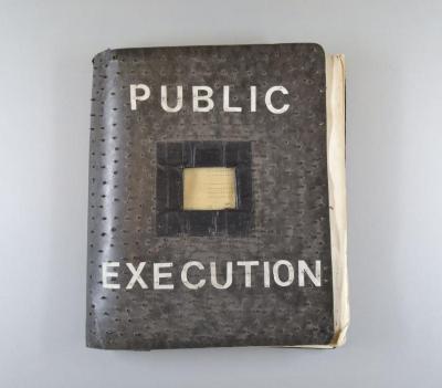 "Handmade Book with Tacks, ""Public Execution"""