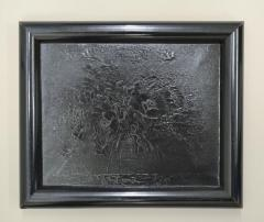 Bouquet (black paint on canvas)