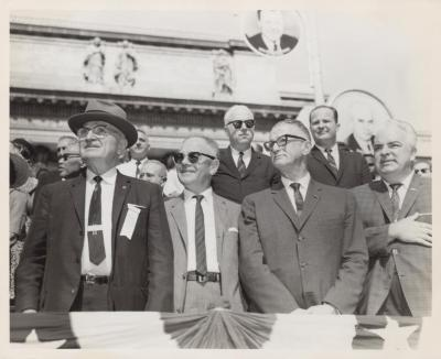 The U.S. President Harry S. Truman and Labor Leaders