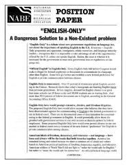 """""""English Only"""" A Dangerous Solution to a Non-Existent problem"""