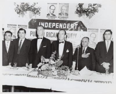 New York City Mayor Robert Wagner at Puerto Rican Republican Club dinner