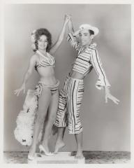 Cuban dancers in rumbera outfits