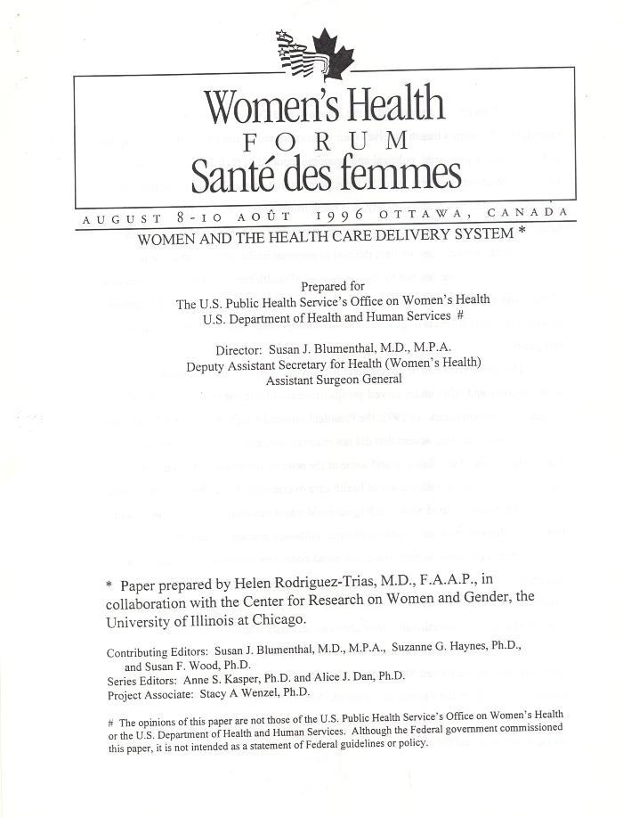 Women's Health Forum
