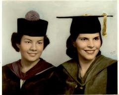 Graduation portrait of Helen Rodríguez-Trías (right)