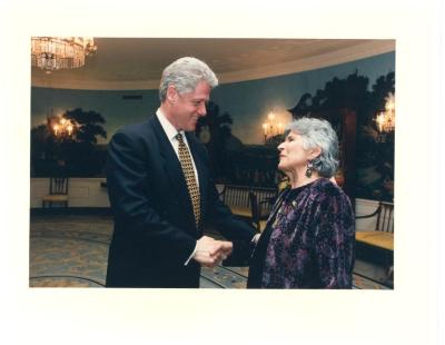 Helen Rodríguez-Trías and President Bill Clinton