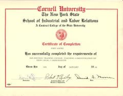 Cornell University Certificate to José López