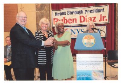 James Roosevelt, Maria Cruz, Aurelia Green and Nancy B. True