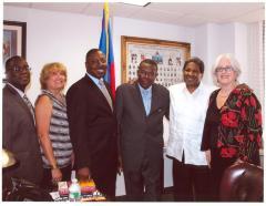 Tato Laviera at the Haitian Consulate in New York City.