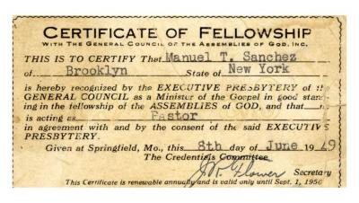 Certificate of Fellowship
