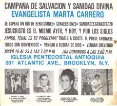 Campaña de Salvación Y Sanidad Divina /  Salvation and Divine Healing Campaign