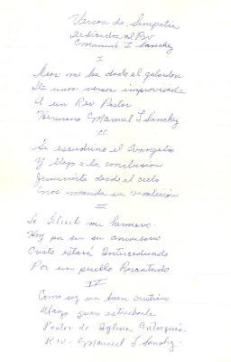 Versos de Simpática / Sympathy Verses