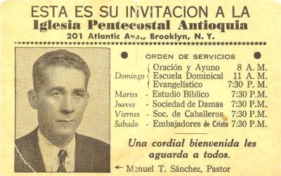 Iglesia Antioquia Pentacostal invitation