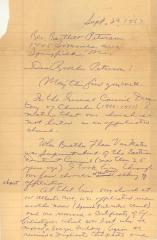 Correspondence between Rev. Bartlett Peterson and Manuel T. Sánchez