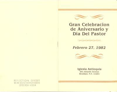 Gran Celebracion de Aniversario y Dia Del Pastor