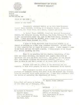Antioch Pentecostal legal correspondence