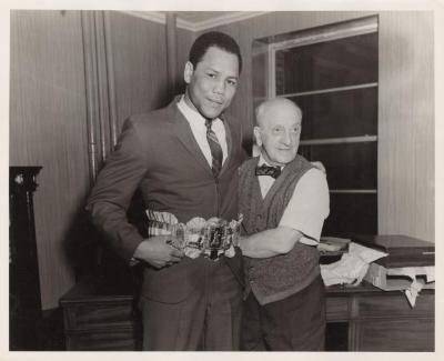The World light heavyweight champion, Jose Torres (Chegui), and the Ring magazine director