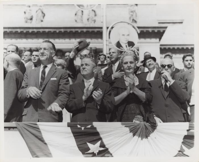 The Puerto Rican Mayor, Felisa Rincon de Gautier, at the Labor Day Parade